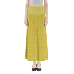 Simple Squares  Full Length Maxi Skirt