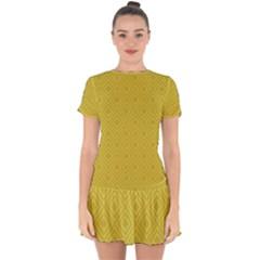 Simple Squares  Drop Hem Mini Chiffon Dress by TimelessFashion