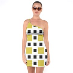 Squares On A Mission One Soulder Bodycon Dress by TimelessFashion