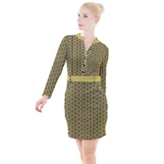 Triangle Party  Button Long Sleeve Dress by TimelessFashion