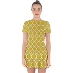 Vintage Tile  Drop Hem Mini Chiffon Dress by TimelessFashion