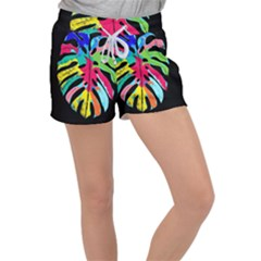 Leaf Tropical Colors Nature Leaves Women s Velour Lounge Shorts