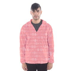 Background Polka Dots Pink Hooded Windbreaker (men)
