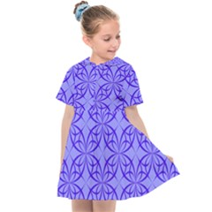 Blue Curved Line Kids  Sailor Dress by Mariart