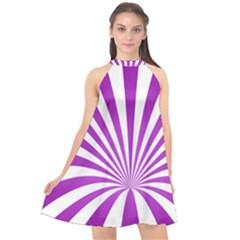 Background Whirl Wallpaper Halter Neckline Chiffon Dress