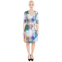 Abstract Background Wrap Up Cocktail Dress by Mariart