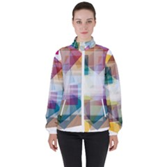 Abstract Background High Neck Windbreaker (women) by Mariart