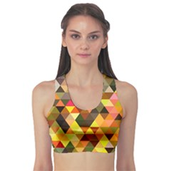 Abstract Geometric Triangles Shapes Sports Bra
