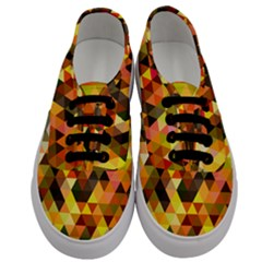 Abstract Geometric Triangles Shapes Men s Classic Low Top Sneakers