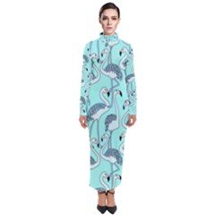 Bird Flemish Picture Turtleneck Maxi Dress by Mariart