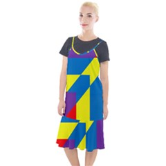 Colorful Red Yellow Blue Purple Camis Fishtail Dress by Mariart