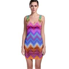 Chevron Zigzag Background Bodycon Dress by AnjaniArt