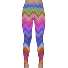 Chevron Zigzag Background Classic Yoga Leggings