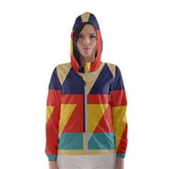 Form Abstract Modern Color Hooded Windbreaker (women) by AnjaniArt