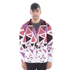 Geometric Elements Hooded Windbreaker (men) by AnjaniArt