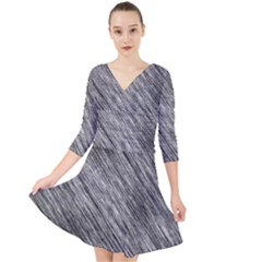Background Texture Grunge Quarter Sleeve Front Wrap Dress