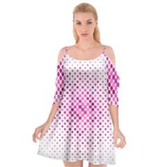 Dot Pattern Circle Pink Cutout Spaghetti Strap Chiffon Dress by Jojostore