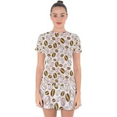 Coffee Beans Vector Drop Hem Mini Chiffon Dress by Mariart
