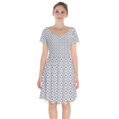 Decorative Ornamental Short Sleeve Bardot Dress