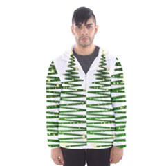 Christmas Tree Spruce Hooded Windbreaker (men) by Mariart