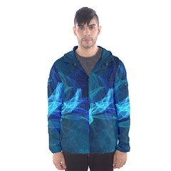 Electric Wave Hooded Windbreaker (men) by JezebelDesignsStudio