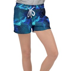 Electric Wave Women s Velour Lounge Shorts by JezebelDesignsStudio