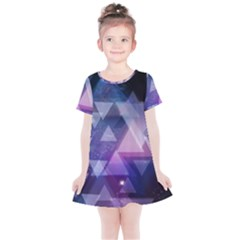 Geometric Triangle Kids  Simple Cotton Dress