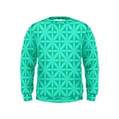 Cyan Magenta Wallpaper Seamless Pattern Kids  Sweatshirt
