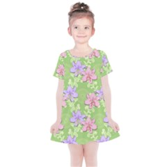 Lily Flowers Green Plant Kids  Simple Cotton Dress by Alisyart