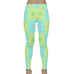 Grid Geometric Pattern Colorful Classic Yoga Leggings