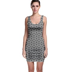 Line Pattern Bodycon Dress by AnjaniArt