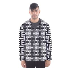 Line Pattern Hooded Windbreaker (men) by AnjaniArt