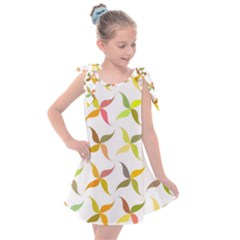 Leaf Autumn Background Kids  Tie Up Tunic Dress by AnjaniArt
