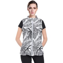 Leaves Nature Picture Women s Puffer Vest by AnjaniArt