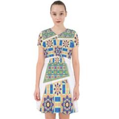 Hristmas Tree Triangle Adorable In Chiffon Dress