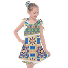 Hristmas Tree Triangle Kids  Tie Up Tunic Dress by AnjaniArt