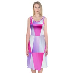 Gradient Geometric Shiny Light Midi Sleeveless Dress