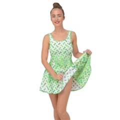 Green Pattern Curved Puzzle Inside Out Casual Dress by Jojostore