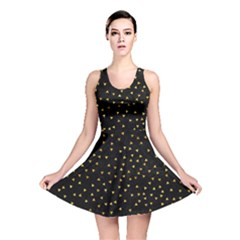 Grunge Pattern Black Triangles Reversible Skater Dress
