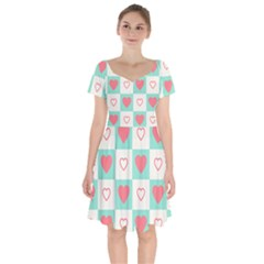Heart Love Seamless Short Sleeve Bardot Dress by Jojostore