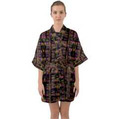 Surrounded By  Ornate  Loved Candle Lights In Starshine Quarter Sleeve Kimono Robe by pepitasart