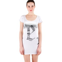 Taylor Swift Short Sleeve Bodycon Dress