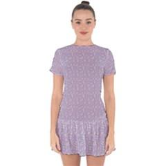 Atomic Effect  Drop Hem Mini Chiffon Dress by TimelessFashion