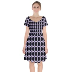 Between Circles Short Sleeve Bardot Dress by TimelessFashion