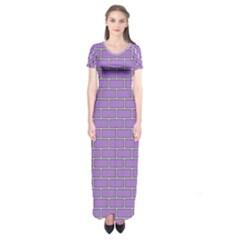 Brick Wall  Short Sleeve Maxi Dress