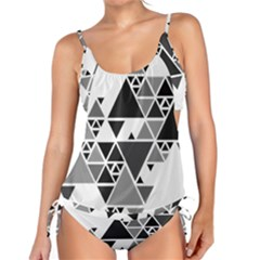 Gray Triangle Puzzle Tankini Set by Mariart
