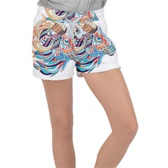 Goat Sheep Ethnic Women s Velour Lounge Shorts by Mariart
