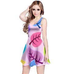 Leaves Background Beautiful Reversible Sleeveless Dress by Mariart