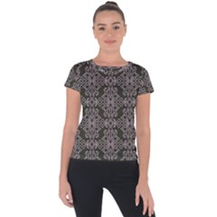 Line Geometry Short Sleeve Sports Top  by Mariart