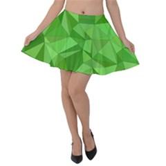 Mosaic Tile Geometrical Abstract Velvet Skater Skirt